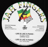 Garnet Silk - Life Is Like A Piano / alt vocal mix / Dub 1 / Dub 2 (Jah Fingers) 12""